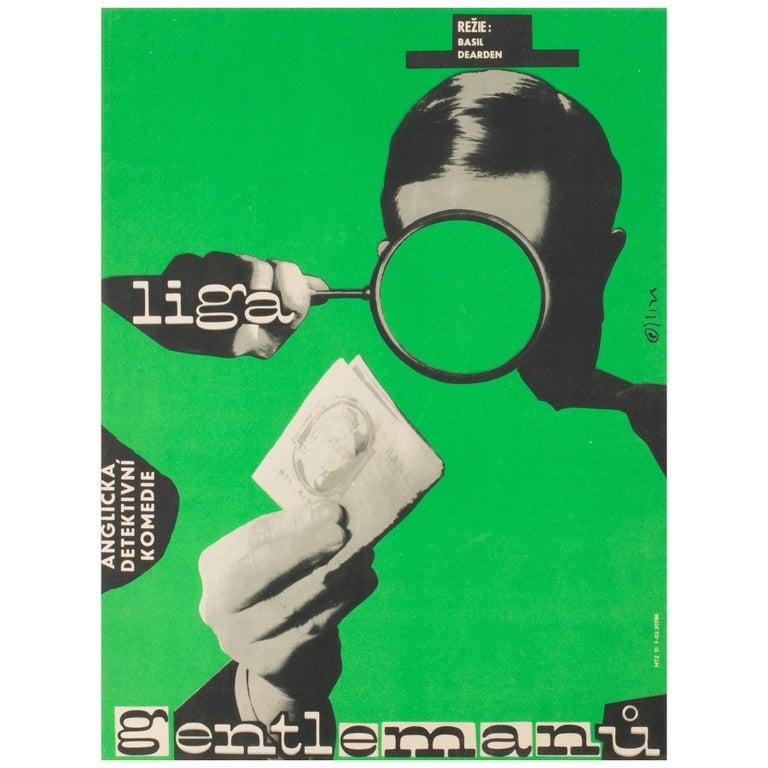 League of Gentlemen Original Czech Film Poster Milan Grygar, 1964 For Sale