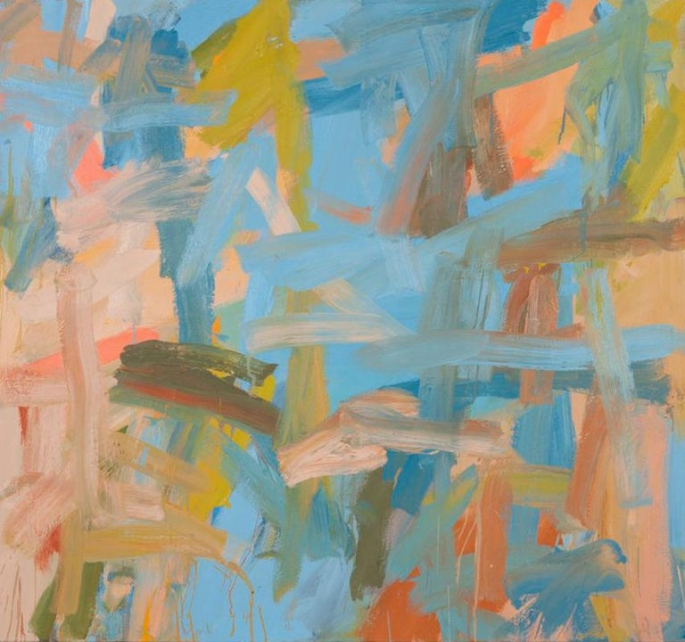 Leah Durner Abstract Painting - Blue to Beige