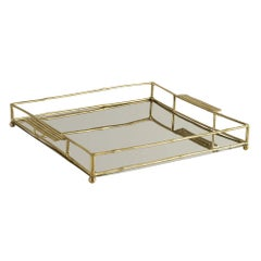 Leah Tray in Brass Colored Glass by CuratedKravet