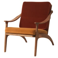 Lean Back Lounge Two-Tone Chair in Teak, by Arne Hovmand-Olsen from Warm Nordic