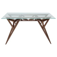 Leapfrog Design Table, Essential in Wood and Glass