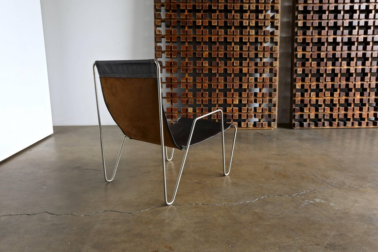 Mid-Century Modern Leather 'Bachelor' Chair by Verner Panton for Fritz Hansen For Sale