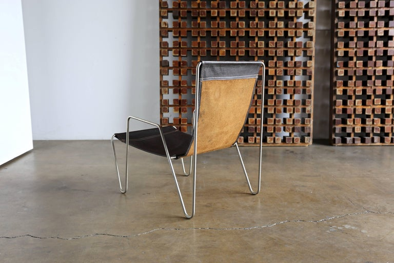 Leather 'Bachelor' Chair by Verner Panton for Fritz Hansen For Sale 1