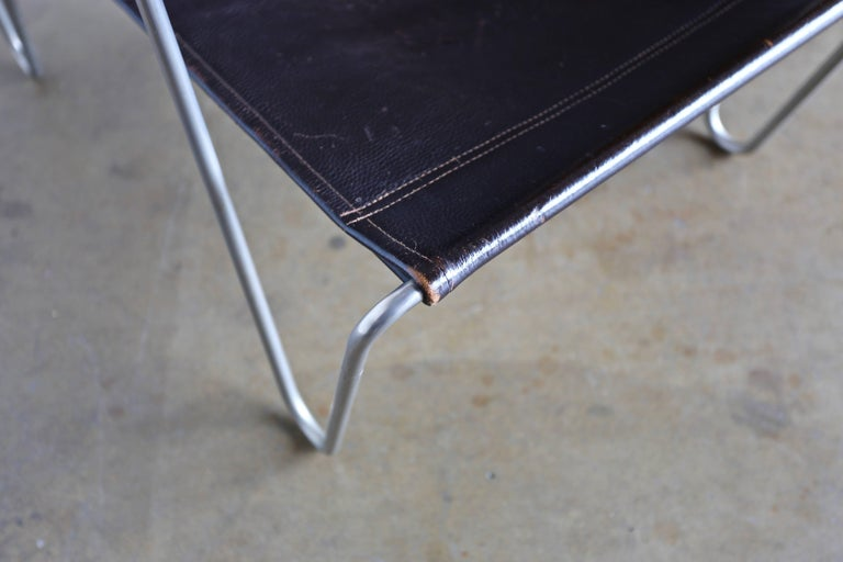 Leather 'Bachelor' Chair by Verner Panton for Fritz Hansen For Sale 3