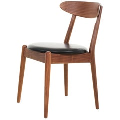 Leather and Ashwood Dining Chair, Louisiana