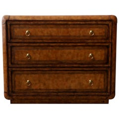 Leather and Brass Dresser Chest by Maitland-Smith