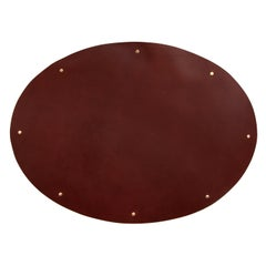 Leather and Brass Placemat Set (Set of 4) Brown