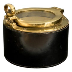 Leather and Brass 'Porthole' Box, circa 1960