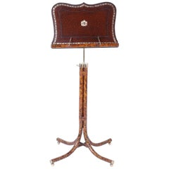 Leather and Faux Tortoise Music Stand