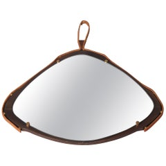 Leather and Metal Mirror