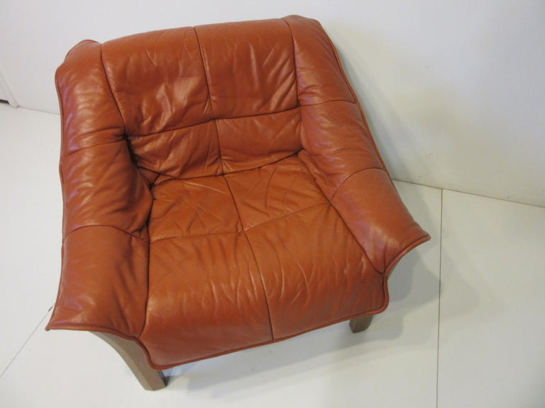 20th Century Leather and Rosewood Lounge Chair by Percival Lafer, Brazil For Sale