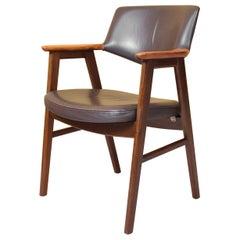 Leather and Walnut Erik Kirkegaard Desk Chair