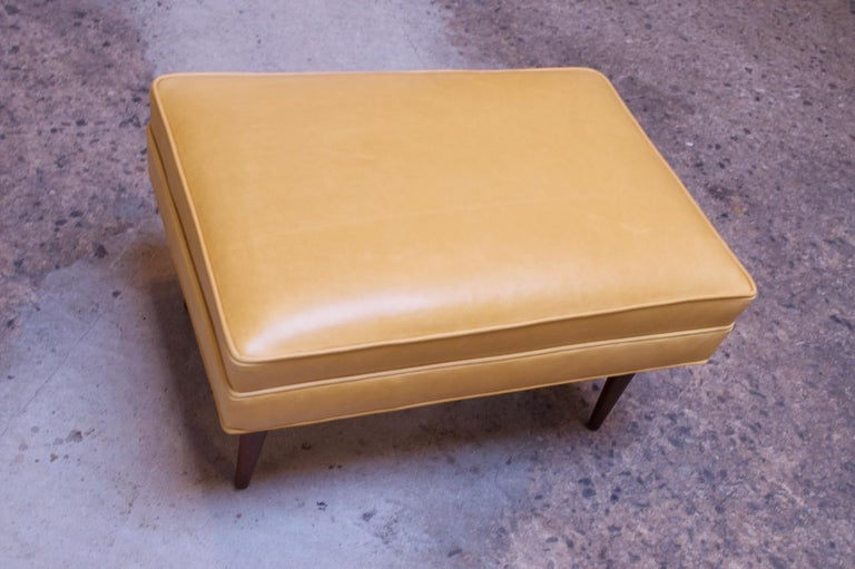 Leather and Walnut Milo Baughman for James Inc. Lounge Chair and Ottoman For Sale 5