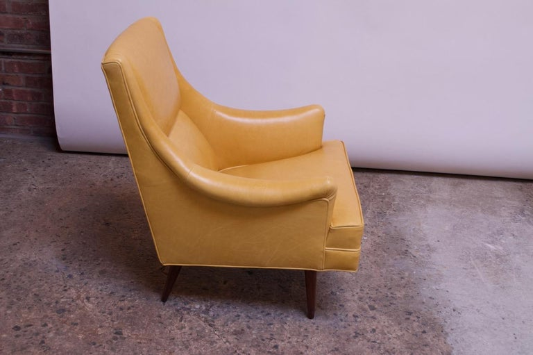 Leather and Walnut Milo Baughman for James Inc. Lounge Chair and Ottoman For Sale 2