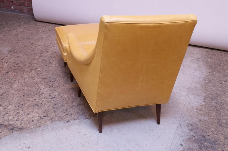 Leather and Walnut Milo Baughman for James Inc. Lounge Chair and Ottoman For Sale 3