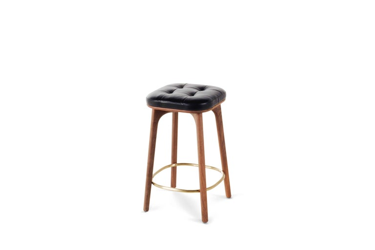 This durable counter stool combines comfort with practicality and a highly sophisticated take on the enduringly popular Industrial aesthetic.  Incorporating a range of lounge chairs, barstools, and stools, the Utility collection is (as its name