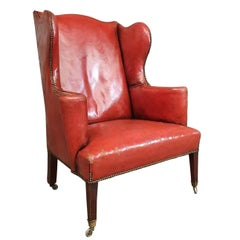 Leather Antique Armchair, circa 1940
