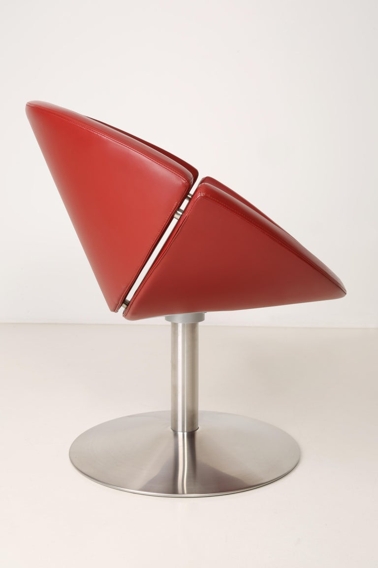 Steel Leather Apollo Chair, Erik Jørgensen, 2000s, Denmark For Sale
