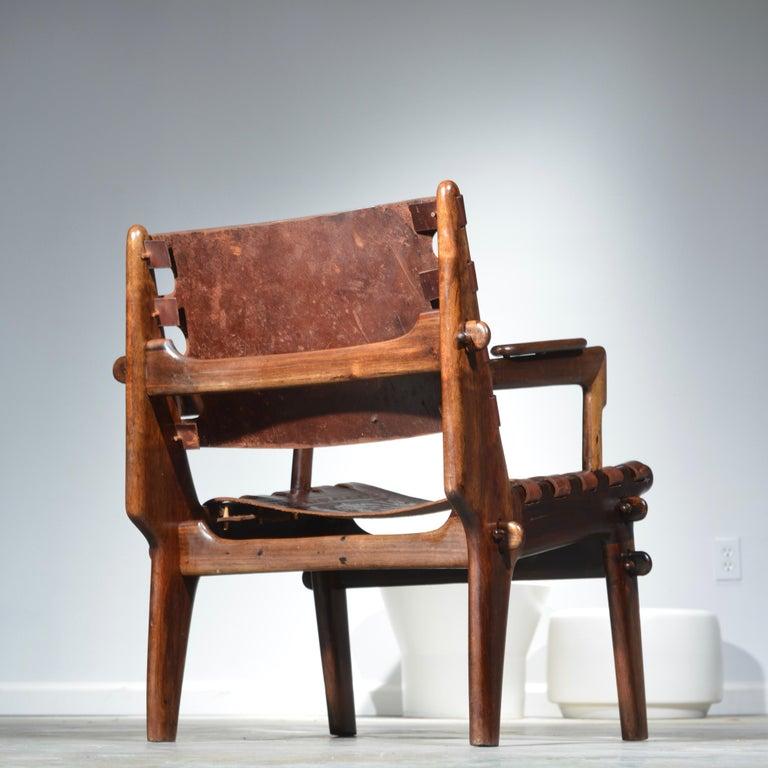 20th Century Leather Armchair by Angel Pazmino for Muebles De Estilo circa 1960 Ecuador For Sale
