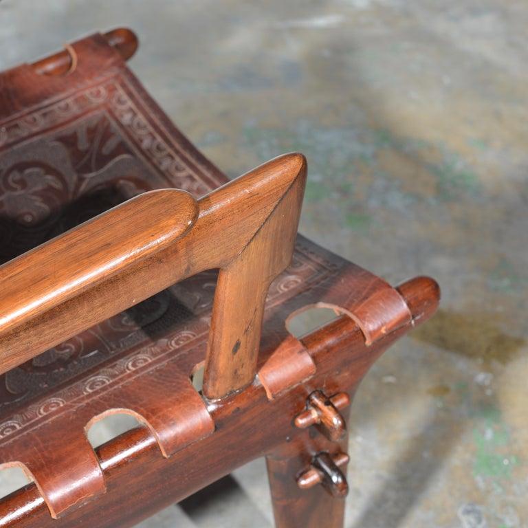 Leather Armchair by Angel Pazmino for Muebles De Estilo circa 1960 Ecuador For Sale 1