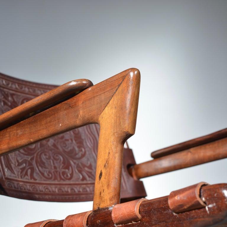 Leather Armchair by Angel Pazmino for Muebles De Estilo circa 1960 Ecuador For Sale 2