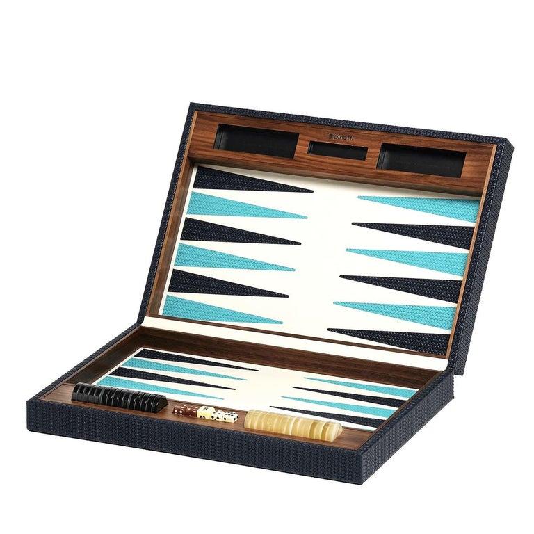 Leather Backgammon Set For Sale