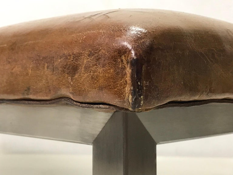 Czech Leather Bench, '1930' For Sale