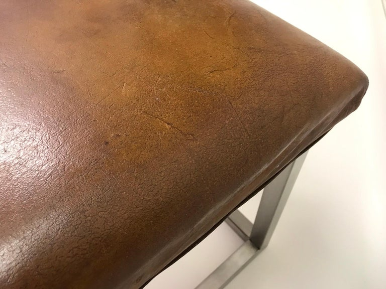 Leather Bench, '1930' In Good Condition For Sale In Ceske Mezirici, CZ