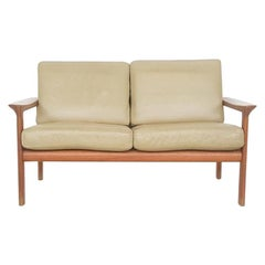"Leather ""Borneo"" Two-Seat Sofa by Sven Ellekaer for Komfort, Danish Modern 1960s"