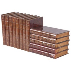 Leather Bound French Books-La Lecture Illustree, Late 1800s