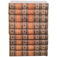 """Leather Bound William Channing's """"Works and Memoirs"""" Pub, 1841-1847"""