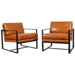 Leather Box Chair by Lawson-Fenning