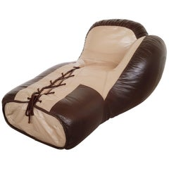 Leather boxing glove lounge chair by De Sede