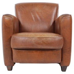 Leather British Armchair, 1970s
