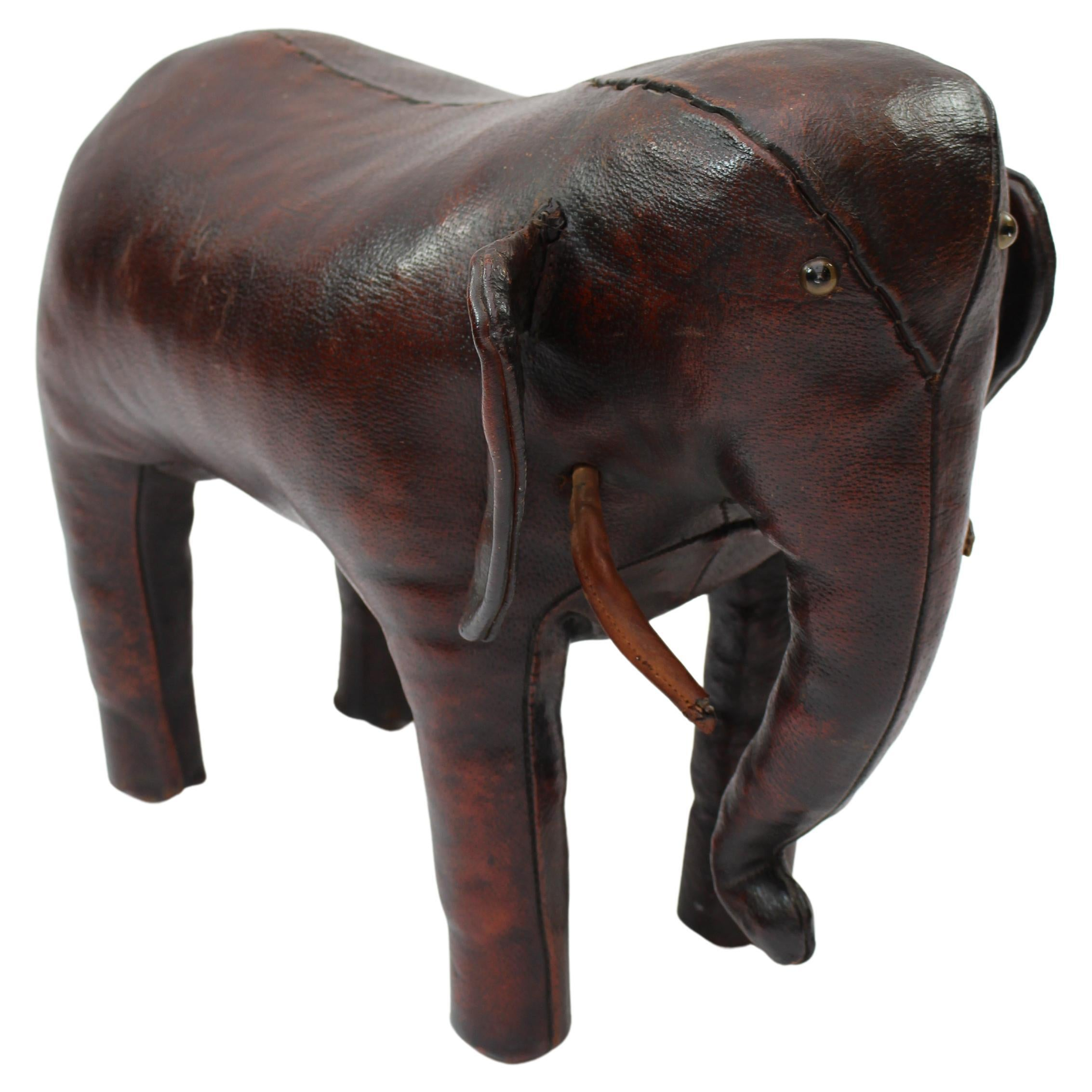 Leather Brown Elephant by Dimitri Omersa