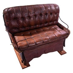 Leather Buggy Bench, 19th Century