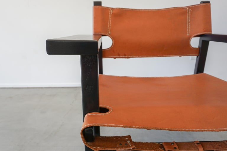 Leather Campaign Chairs For Sale 4