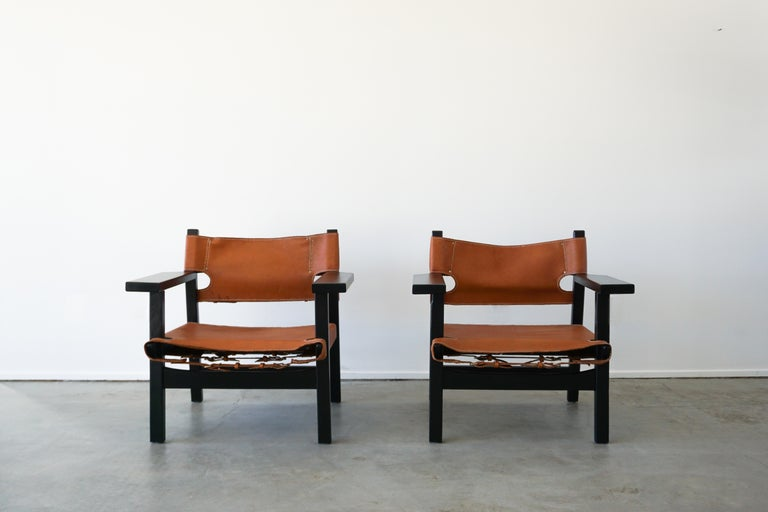 American Leather Campaign Chairs For Sale
