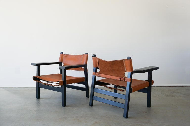 20th Century Leather Campaign Chairs For Sale