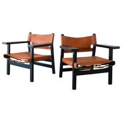 Leather Campaign Chairs