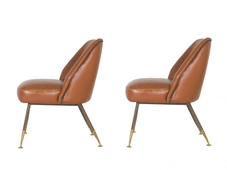 Mid-Century Modern Leather