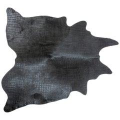 Leather Carpet Crocodile Printed