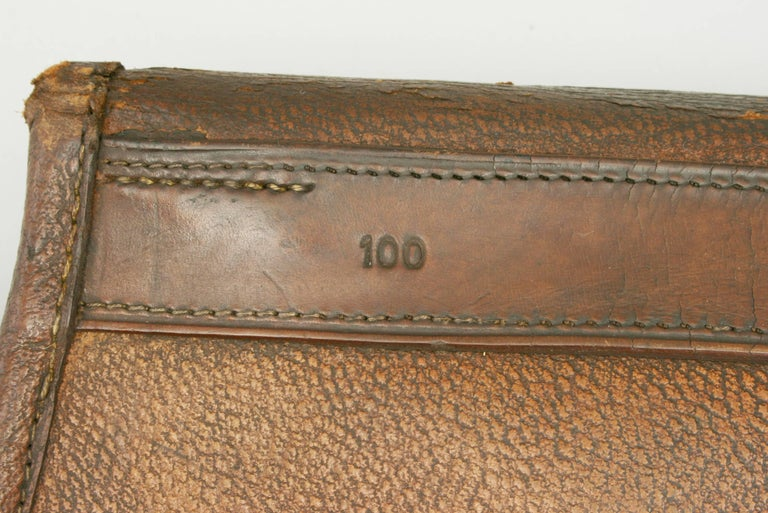 English Leather Cartridge Bag For Sale