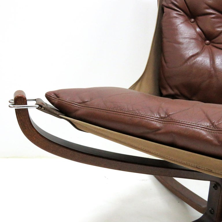 Leather Chair 'Falcon' by Sigurd Resell, 1970 For Sale 1