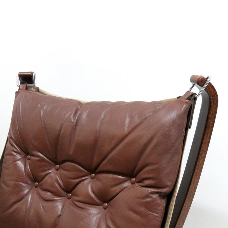 Leather Chair 'Falcon' by Sigurd Resell, 1970 For Sale 2