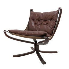 Leather Chair 'Falcon' by Sigurd Resell, 1970