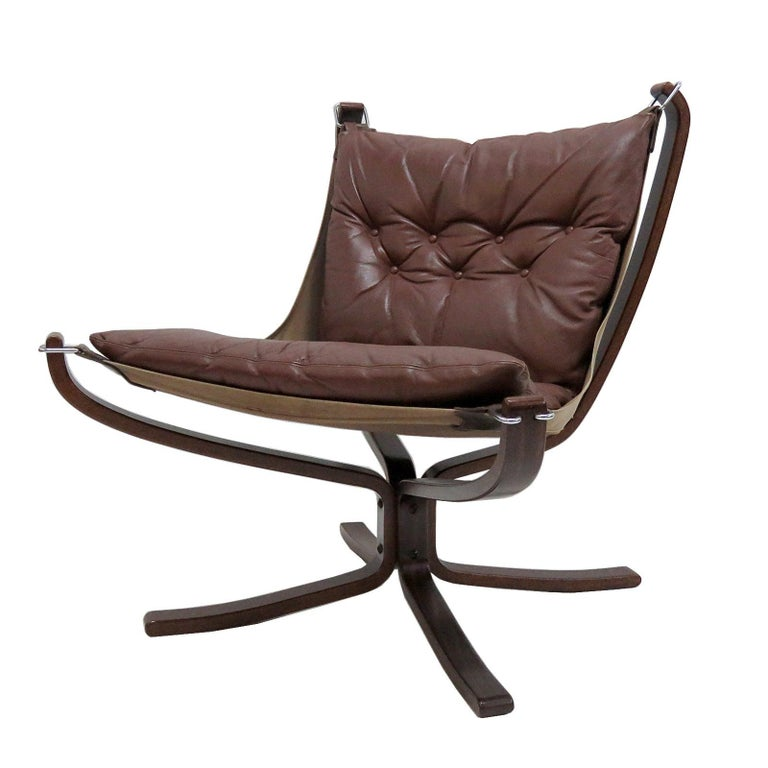 Leather Chair 'Falcon' by Sigurd Resell, 1970 For Sale
