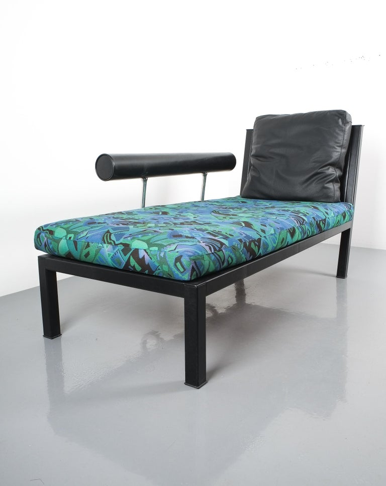Leather Chaise Lounge Or Sofa Baisity by Antonio Citterio for B&B Italy For Sale 2