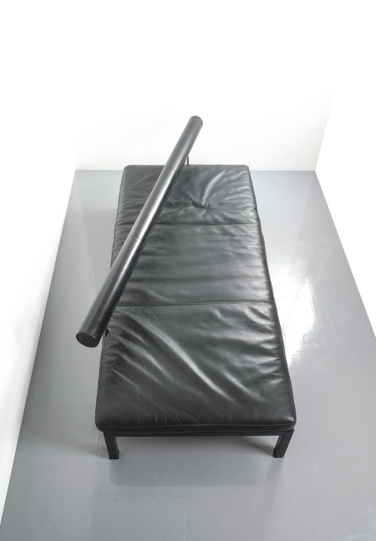 Leather Chaise Lounge Or Sofa Baisity by Antonio Citterio for B&B Italy For Sale 11
