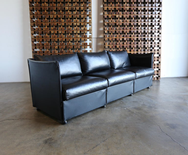 Tremendous Leather Char A Banc Sofa By Mario Bellini For Cassina For Evergreenethics Interior Chair Design Evergreenethicsorg